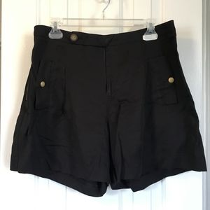 Black Flair Dressy Shorts w/ Gold Accents